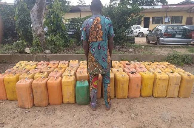 NSCDC Intercepts Man for unlawful Export of Petroleum Product To Benin Republic from Saki